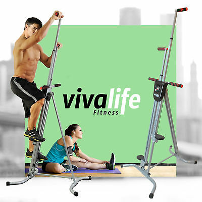 Vertical Climber Cardio Machine Exercise Stepper Workout Fitness Gym Equipment ]