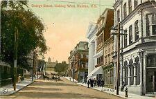 Vintage Postcard George Street Looking West Halifax Nova Scotia Canada
