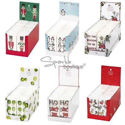 2 packs of Paper Pocket Tissues many designs stocking fillers wedding christmas