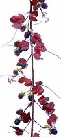55 Blackberry Garland Burgundy Fall Thanksgiving Christmas Floral Decor 329t