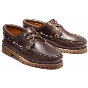 Timberland-Authentics-Handsewn-3-Eye-Classic-Bootsschuhe-Schuhe-Halbschuhe-30003