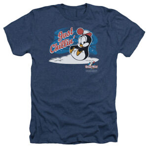 Chilly-Willy-Penguin-juste-tranquille-034-Licensed-Adult-Heather-T-Shirt-Toutes-Les-Tailles