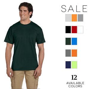 80f3ad9495be Gildan Mens DryBlend 5.6 oz. 50/50 Pocket T-Shirt G830 Size S-3XL   eBay