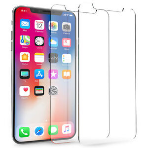 Veritable-Verre-Trempe-Protection-D-039-ecran-Film-Guard-Protection-pour-iPhone-X