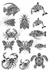 RICE PAPER DECOUPAGE ANIMAL TURTLE DELPHIN VINTAGE CRAFT SHEET SCRAPBOOKING 052