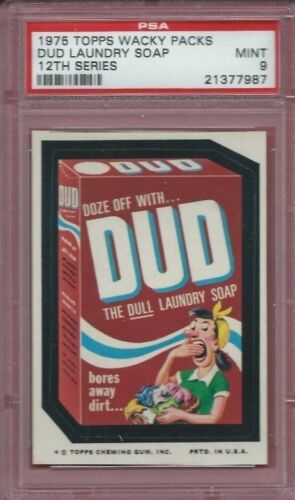 WACKY PACKAGES SERIES 12 DUD LAUNDRY SOAP PSA 9 MINT 1 OF 1!