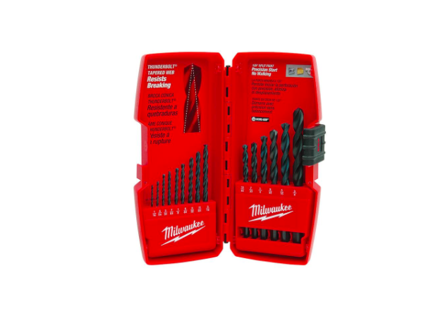 Milwaukee 48-89-2803 Precision Thunderbolt Black Oxide Drill Bit Set, 15-Pieces