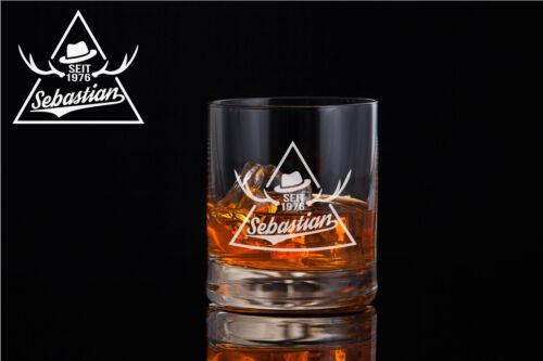 Whiskyglas mit Gratis Gravur Whiskeyglas personalisiert mit Namen graviert WY19