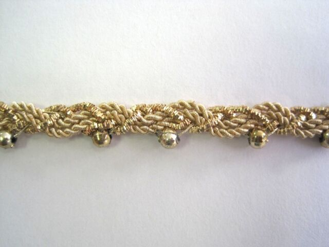 Handgearbeitete Borte Bouillon Gold BO-GB-1278