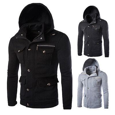 Men's Fashion Winter Warm Hooded Slim Fit Coat Jacket Casual Outwear Sweatshirt