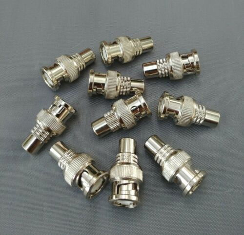 USA Seller BNC Male to RCA Female Connector Adapter 10 PCS