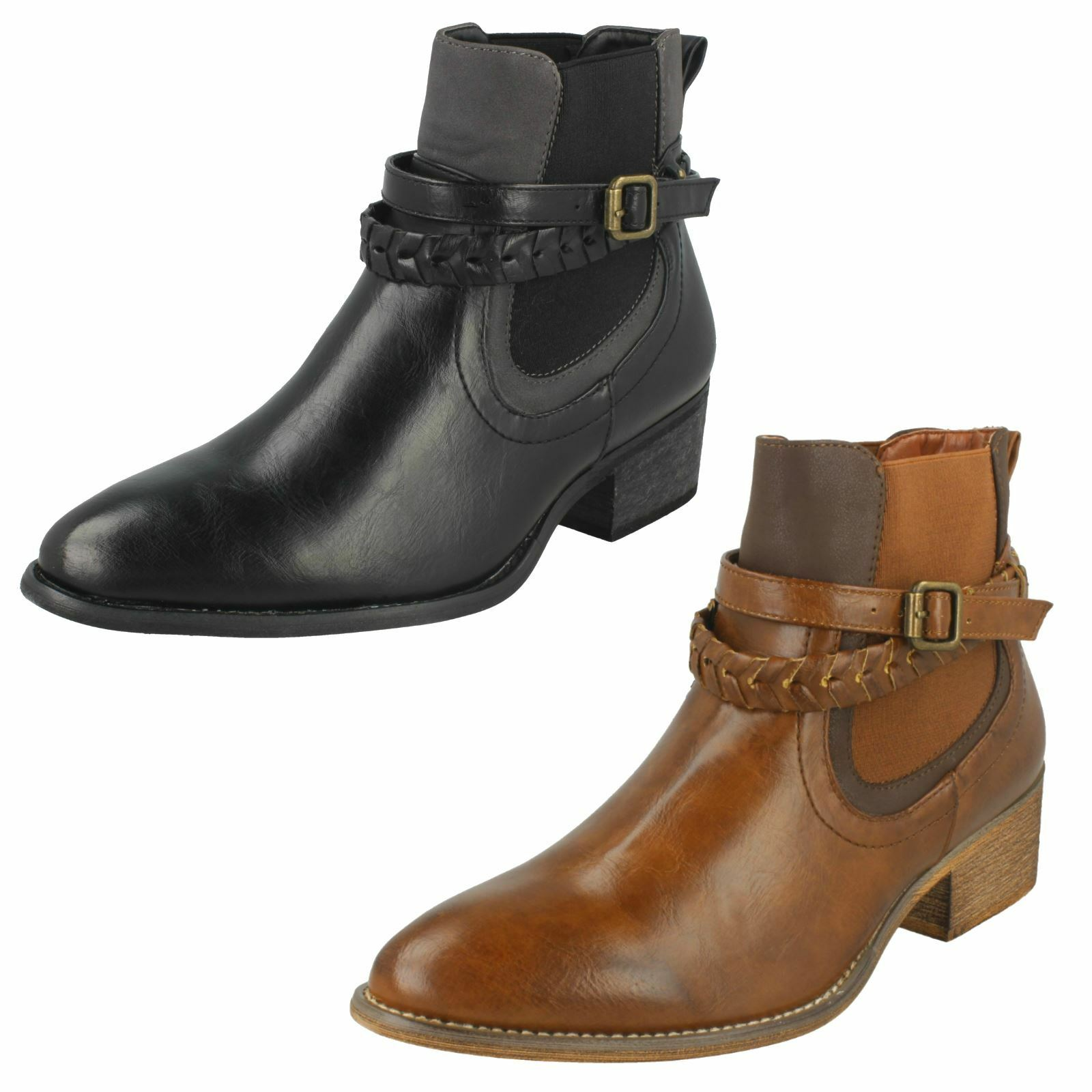 Ladies Down To Earth Heeled 'Ankle Boots'
