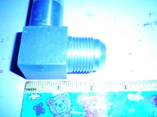 1 NOS Number 12 Bulkhead Aluminum Hydraulic Fitting Double Male Elbow