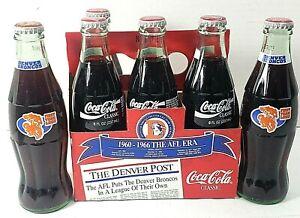Coca-Cola-Denver-Broncos-1993-MLB-Firs-Team-Logo-6-PK-bottles-full-amp-sealed