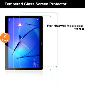 2PC-New-Real-Tempered-Glass-Flim-Screen-Protector-For-Huawei-Mediapad-T3-10-9-6