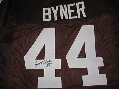 Browns Earnest Byner signed Jersey W/COA   eBay