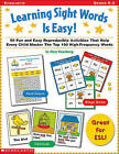 Learning Sight Words is Easy by Mary Rosenberg (Paperback, 2000)