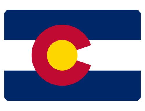 COLORADO FLAG SIGN CUSTOM METAL SIGN Durable Aluminum NO RUST FULL COLOR F#526