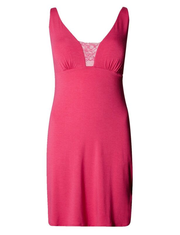 Brand New Ex M&s Rosie Autograph Pink Lace Panelled Chemise Sizes 6-20
