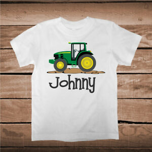 Image Is Loading Tractor Tee Tees Shirt With Custom Name Boys