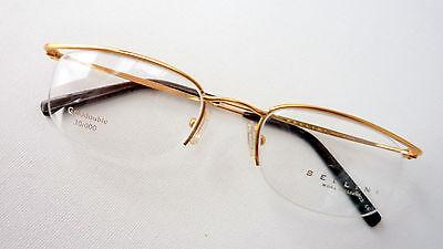 Warnen Luxus Brille Vintage-fassung Halbrand In Golddouble Edel Iund Leicht Gr. M Warm Und Winddicht