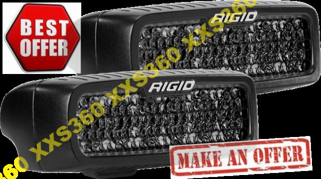 RIGID Industries SR-Q Series PRO Spot Diffused Midnight Surface Mount 1 Pair