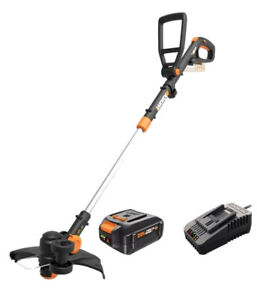 WORX WG170.3 20V 4.0 Cordless Grass Trimmer/Edger 60 Min Quick Charger