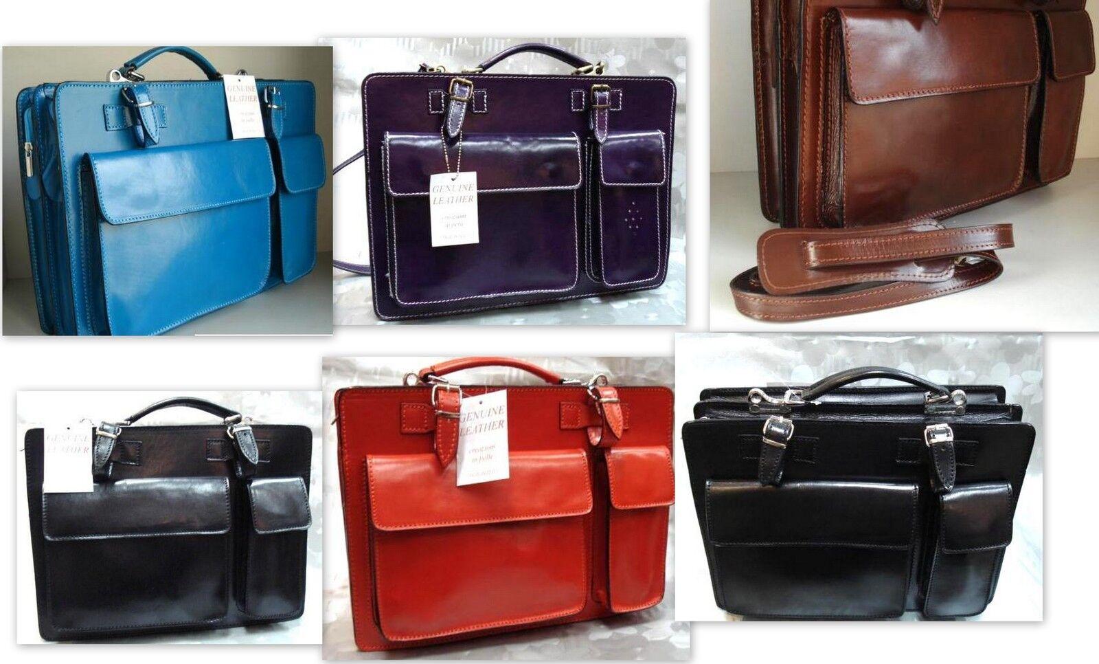 Leder tasche umhängetasche handtasche italy aktentasche ledertasche | Große Ausverkauf