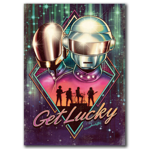 Daft Punk Get Lucky DJ Rap Hip Hop Music Art Hot 18 24x36in FABRIC Poster N2783
