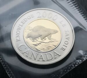 CANADA-TOONIE-2000-KNOWLEDGE-PROOF-LIKE-SEALED-COIN