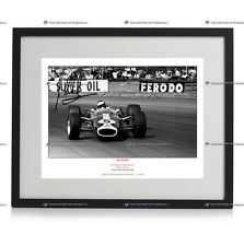 FRAMED JIM CLARK FORMULA 1 LOTUS AUTOGRAPH SIGNED