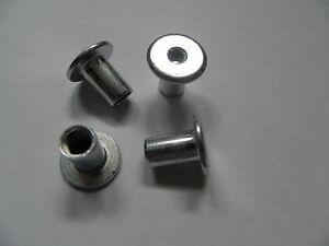 Relativ 20 Hülsenmutter M6 silbern verzinkt Flachkopf Innensechskant OU65