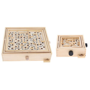 Puzzle Game for Adults, Labyrinth Wooden Maze Game with Two Steel Marbles
