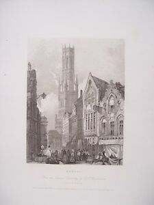 Belgica-Bruges-dibujo-R-p-bonnington-Recorded-W-Henshall-IN-1834