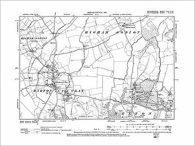 HERTS.Busheyheath,Caldecote Hill,Clay Hill,Little Bushey,Stanmore Cmn 1923 map