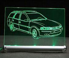 Opel Vectra B Caravan als Gravur auf LED-Leuchtschild