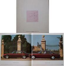 Daimler 4.0 XJ40 & Double Six V12 S3 1992 Original Sales Brochure No. DAIM92/01D