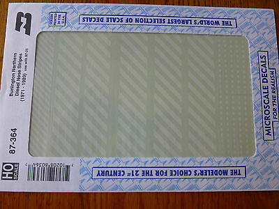 Microscale Decal HO  #87-364 Burlington Northern Wh BN - Diesel Nose Stripes
