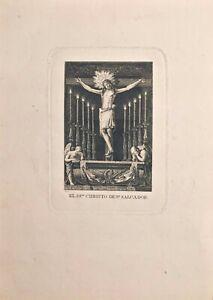 Valencia-der-Allerheiligsten-Sakrament-Christus-De-St-Salvador-Gravierkunst
