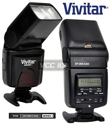 Vivitar DF-293 TTL LCD Bounce Flash For Canon T6i T5i T4i 1200D 100D 750D 760D