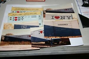 HO-HERALD-KING-D-amp-H-I-LOVE-NY-BOXCAR-DECALS-W-PICTURES-AS-PICTURED-FROM-ESTATE