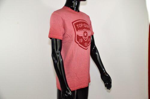 TOP GUN Red POWER T-Shirt Shirt Herren Rundhals S-XLNEU