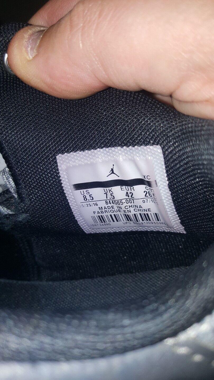 9733a313375d ... Nike Jordan Rising Rising Rising High 2 Wolf Grey Black Men s US8.5  GORGEOUS HARD ...