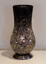 BLACK MOSAIC TABLE LAMP, CRACKED GLASS EFFECT VASE LAMP, UNIQUE TABLE LAMP