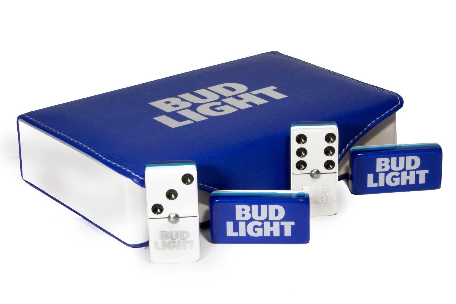 Bud Light Jumbo Domino Double Six, 5 Coats 100% Acrylic. Faux Leather