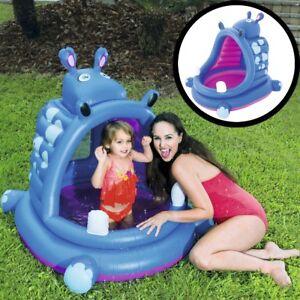 planschbecken kinderpool baby spiel bade kind pool garten wasser becken mit dach ebay