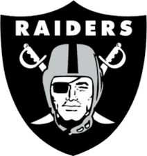 20 water slide nail decals transfer Raiders football 3/8 inch trending