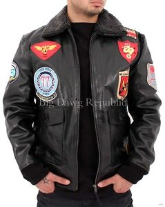 9833ee74d Details about Aviatrix, Men's Designer Leather Jacket, US Pilot Flying  Bomber Style, Wills Blk