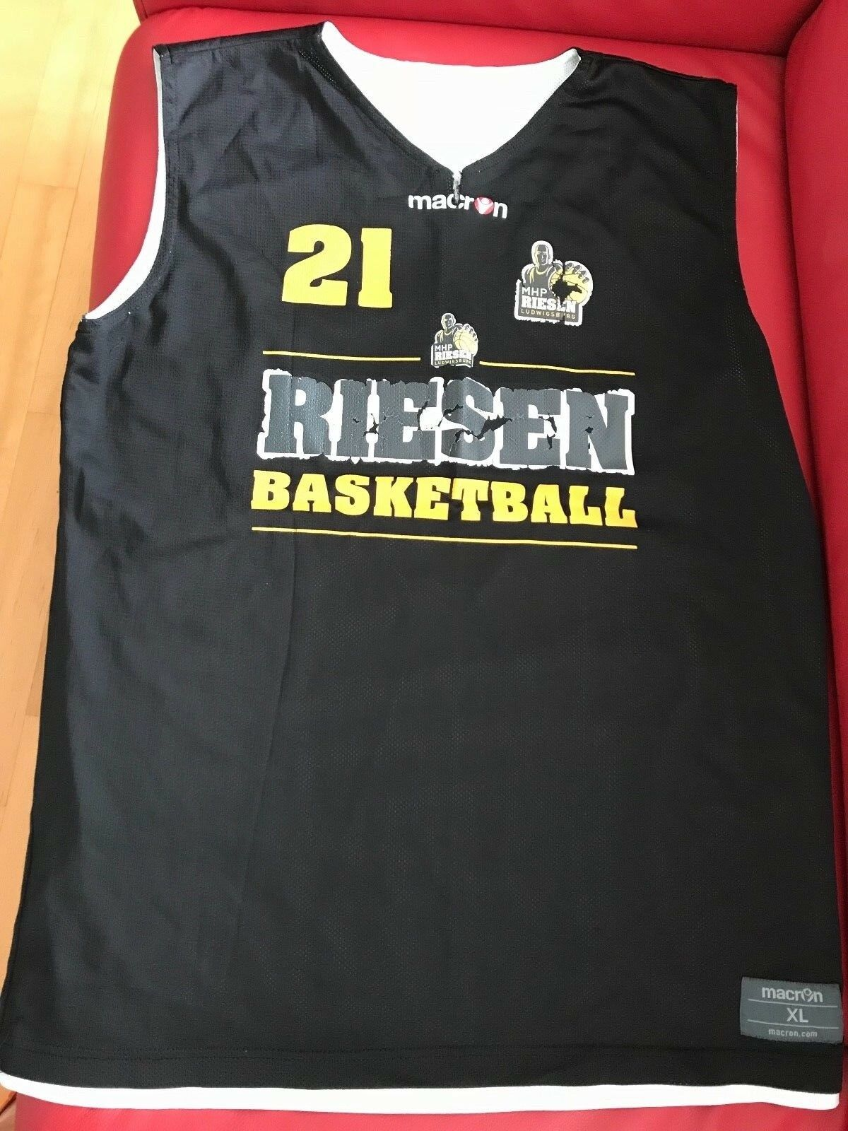 MHP Riesen Jersey Jersey Jersey gameworn Nr. 21 Jason Boone Basketball XL Macron Beko BBL Bund a919af