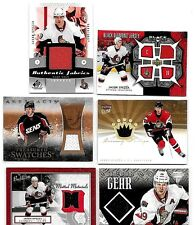 JASON SPEZZA LOT OF {6} DIFFERENT AUTHENTIC GAME USED JERSEY CARDS